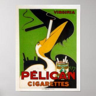Cigarrillos del pelícano posters