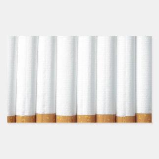 Cigarrillos Pegatina Rectangular