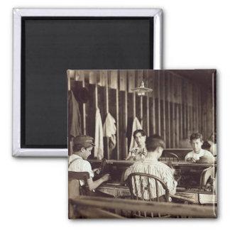 Cigarro Boys, 1909 de Tampa Imán Cuadrado
