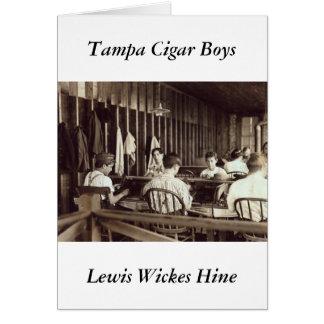 Cigarro Boys, 1909 de Tampa Tarjeta De Felicitación