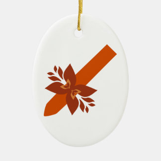 Cigarro cigar adorno navideño ovalado de cerámica