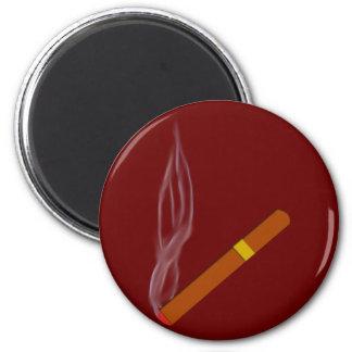 Cigarro cigar imán redondo 5 cm