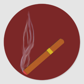 Cigarro cigar pegatina redonda