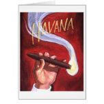 Cigarro de La Habana Felicitación