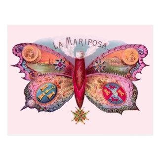 Cigarro de la mariposa del vintage tarjetas postales