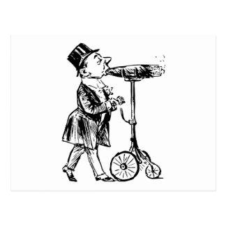 Cigarro en Räder cigar on wheels Postales