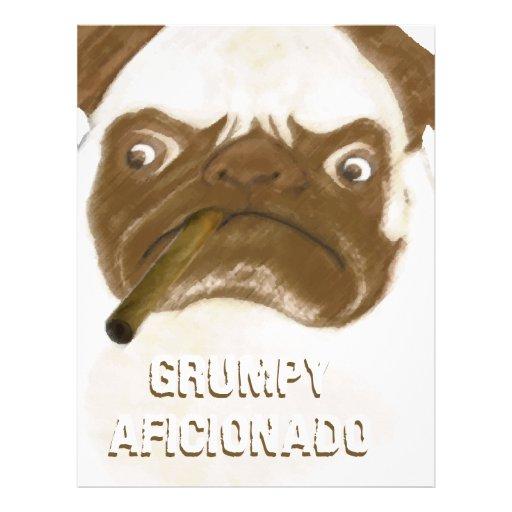 Cigarro gruñón personalizado de Puggy del AFICIONA Membretes Personalizados