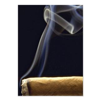 """Cigarro hermoso con humo invitación 5"""" x 7"""""""