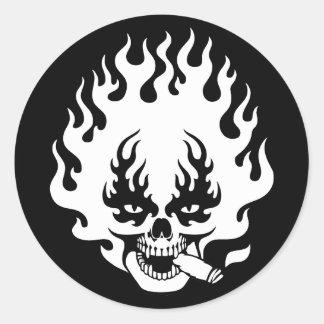 cigarro-llama-SK-DKT Pegatina Redonda