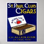 Cigarros 1910 del club de San Pablo Impresiones