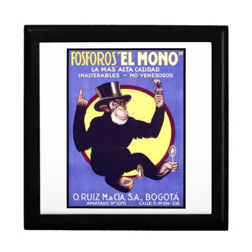 Cigarros cubanos del EL de Fosforos mono Joyero Cuadrado Grande