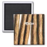 Cigarros cubanos iman de frigorífico