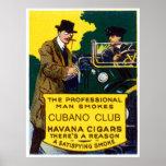 Cigarros del club de Cubano del vintage Impresiones