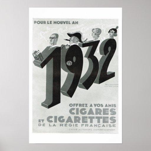 Cigarros y cigarrillos impresiones