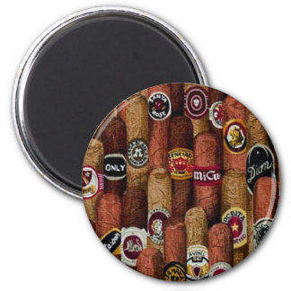 Cigars 2 Inch Round Magnet