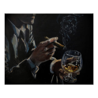 Cigars & Cognac poster print