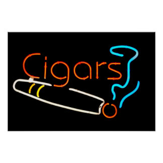 Cigars Neon Sign Poster