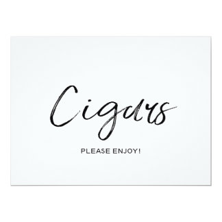 """Cigars"" Wedding Sign 