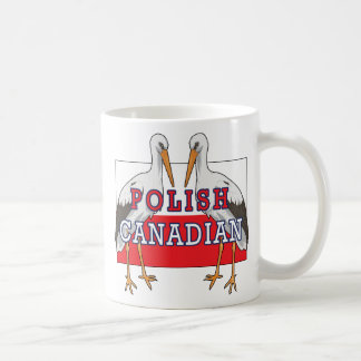 Cigüeña canadiense polaca taza