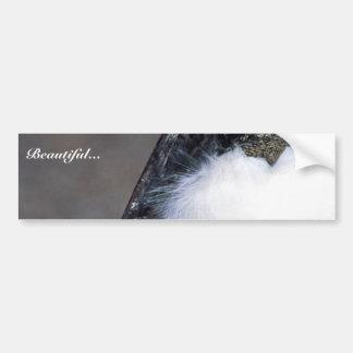 Cigüeña de madera pegatina de parachoque