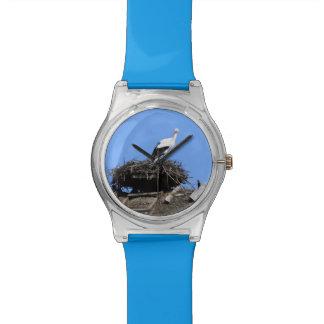 Cigüeña en jerarquía relojes