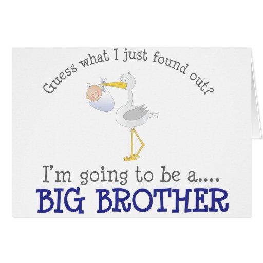 Cigüeña hermano mayor felicitacion