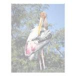 Cigüeña pintada membretes personalizados