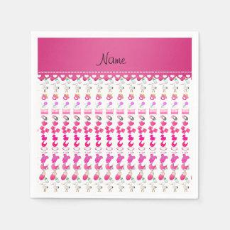 Cigüeña rosada blanca conocida del pacificador del servilleta desechable