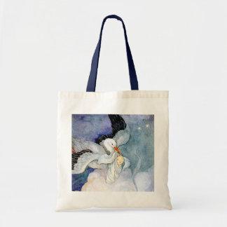 Cigüeña y bebé bolsas de mano