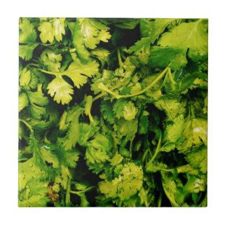 Cilantro / Coriander Leaves Ceramic Tile