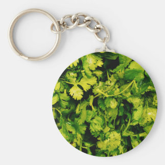 Cilantro / Coriander Leaves Keychain