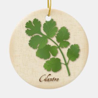 Cilantro Herb Ceramic Ornament