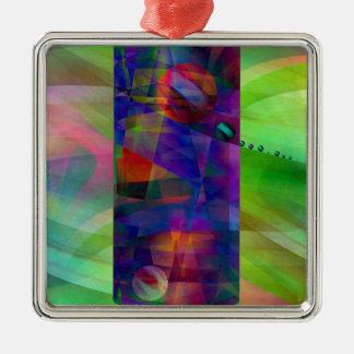 Cilindro abstracto creado por Christine Bässler Adorno Navideño Cuadrado De Metal