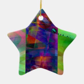 Cilindro abstracto creado por Christine Bässler Adorno Navideño De Cerámica En Forma De Estrella