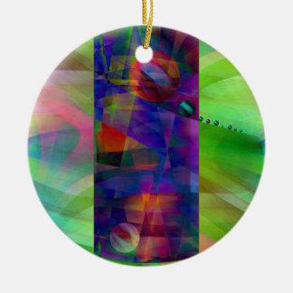 Cilindro abstracto creado por Christine Bässler Adorno Navideño Redondo De Cerámica