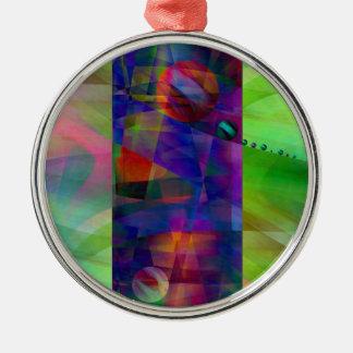 Cilindro abstracto creado por Christine Bässler Adorno Navideño Redondo De Metal