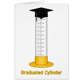 Cilindro graduado - tarjeta de felicitación