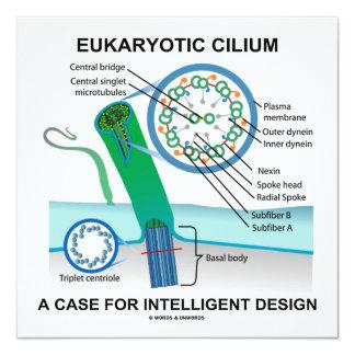 """Cilio eucariótico un caso para el diseño invitación 5.25"""" x 5.25"""""""