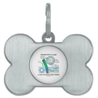 Cilio eucariótico un caso para el diseño placas de nombre de mascota