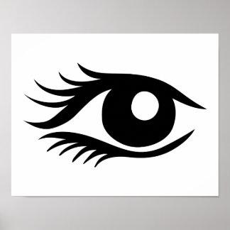 Cilios del ojo posters