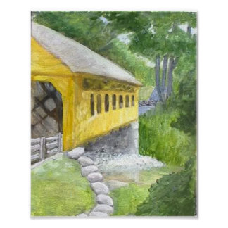 Cillyville Covered Bridge Canvas Poster