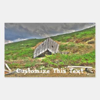CIM Cabin in the Mountains Rectangular Sticker
