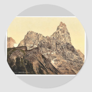 Cimon della Pala, Tyrol, Austro-Hungary classic Ph Round Stickers