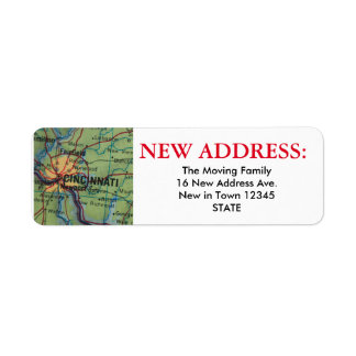 Cincinatti New Address Label