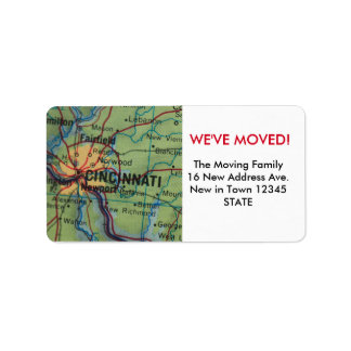 Cincinatti We've Moved label