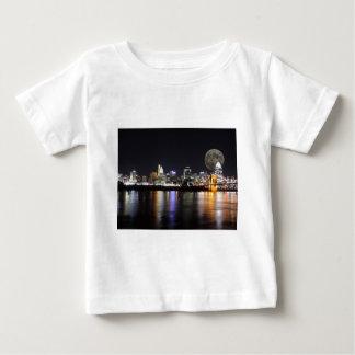 Cincinnat skyline with the moon infant t-shirt