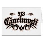 Cincinnati 513 greeting card