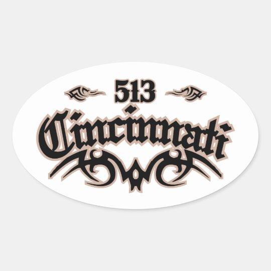 Cincinnati 513 oval sticker