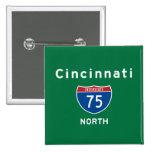Cincinnati 75 2 inch square button