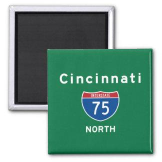 Cincinnati 75 2 inch square magnet